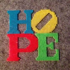 HOPE perler beads by theycallme_pg