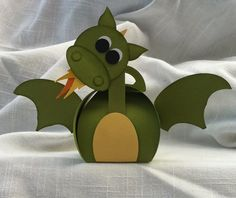 All That Scrap: Curvy Keepsake Dragon box - check out the post for the back view. Very cute!