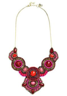 Medallion Marvel Necklace in Pink, #ModCloth