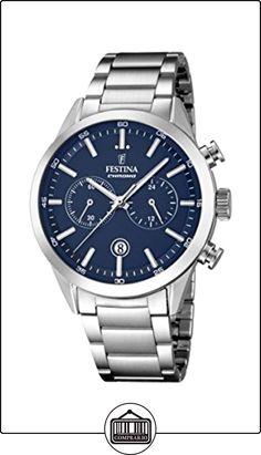 Festina hombre reloj de cuarzo con cronógrafo azul y plata pulsera de acero inoxidable f16826/2 de  ✿ Relojes para hombre - (Gama media/alta) ✿