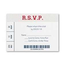 Sports Star - Baseball - Response Card and Envelope. Mitzvah Invitations by DM Events & Design. www.dmventsanddesign.com