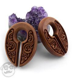 Ornamental Keyhole Wooden Ear Weights