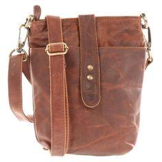 LECONI kleine Schultertasche LE3045 aus gewachstem Rindsleder in braun Kleine  Umhängetasche, Taschen Damen, Ledertasche 0edef6b2a1