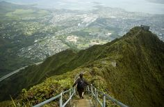 The Stairway to Heaven, also known as the Haiku Stairs, provides the most stunning views of Oahu, Hawaii. The US military built the 3,922-step hike during World War II so soldiers could access a radio antennae 2,000 feet up.