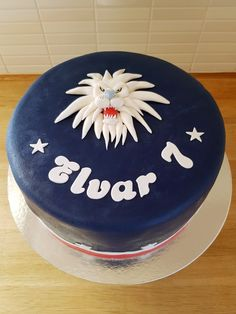 LHC lion cake - LHC lejon tårta