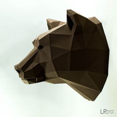 Bear Head Animal Head Bear lowpoly Bear mask bear Baloo