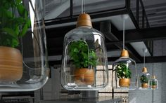 """""""Milo"""" is an interior lamp made by designers from Lightovo. This lamp was created in order to bring more light to flowers and plants that we can put inside the glass. A smart way to maintain flowers thanks to LED and to give more use to a light."""