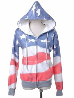 I just ordered this! Red White and Blue American Flag Zip Up Fashion Hoodie Jacket | eBay