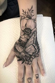 Hand Tattoos for Women . Hand Tattoos for Women . Mandala Hand Tattoos, Butterfly Hand Tattoo, Cute Hand Tattoos, Small Hand Tattoos, Hand Tats, Dope Tattoos, Finger Tattoos, Body Art Tattoos, Sleeve Tattoos