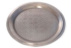 """Etched Silver Tray, 22"""". For the coffee table.  dream living room"""