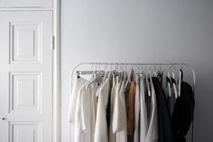 Cloth rack filled with Month of Sundays