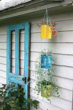 Suporte simples de nós de macramê para vasos suspensos | Vila do Artesão