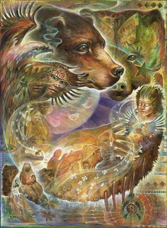 We have lost the ability to listen to the animals as they give us their gifts of learning, laughter, love, and food. We have cut ourselves off from all of these relations, and then we wonder how we can so often be bored and lonely. -- The Medicine Wheel Earth Astrology by Sun Bear and Wabun (Image: Blaze Warrender)