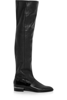 Reed Krakoff Oxford leather over-the-knee boots | NET-A-PORTER