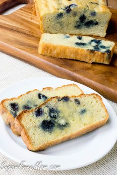 Low Carb Blueberry English Muffin Bread Loaf-gluten free, grain free, keto, THM- sugarfreemom.com
