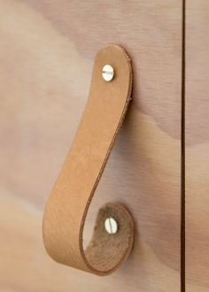 DIY: Leather Hooks + Pulls | Kalon Studios US