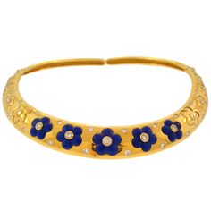 VAN CLEEF & ARPELS Gold, Diamond and Lapis Necklace