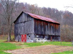 Old Barn with red door