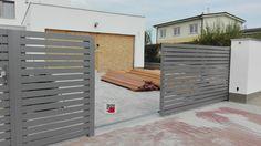 Pojezdové brány po kolejnici — Hliníkové ploty