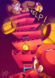 HELP! by Leandro Battaglia on Behance #nintendo #mario #fanart