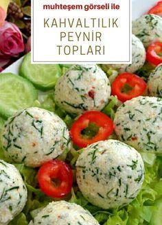 Kahvaltılık Peynir toplari Turkish Recipes, Italian Recipes, Ethnic Recipes, Turkish Breakfast, Brunch, Wie Macht Man, Fish And Meat, Fresh Fruits And Vegetables, Breakfast Items