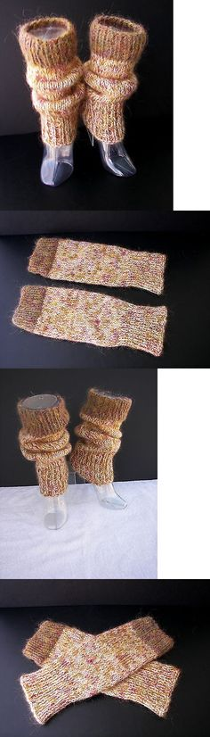 Leg Warmers 163139: Colorful Art Hand Knit Thick Leg Warmers In 100% Nz Wool And Mohair Leg Warmers -> BUY IT NOW ONLY: $38 on eBay!