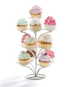 This Silver 13-Cupcake Tree by Godinger is perfect! #zulilyfinds