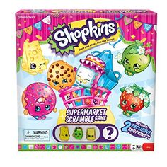 Shopkins Supermarket Scramble Game with 4 Exclusive Collectible Shopkins Characters Found Only in Our Games * See this great product.Note:It is affiliate link to Amazon.