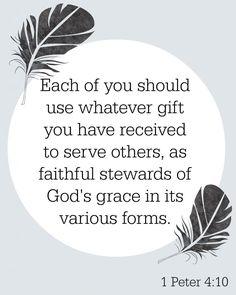 Stewards of God's Grace lent #25 - 1 Peter 4:10