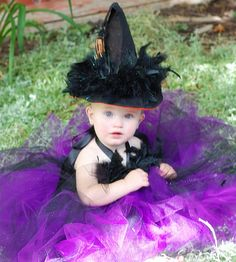 Fanciful Witch Halloween Tutu Costume