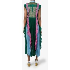 Gucci plissé dress (£3,780) ❤ liked on Polyvore featuring dresses, multi print dress, multi-color dress, multi color dress, colorful dresses and gucci