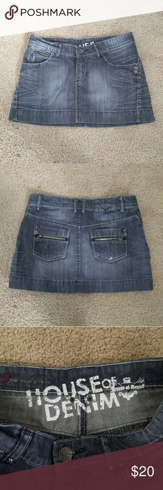 NEW Unworn Denim skirt small Brand new unworn, House of Denim, 30 inch waist, 11-12 inch length No Trades, Offers Welcome, Bundle or More Discounts Skirts Mini