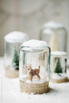 Homemade Christmas decor by Ruth Black for Stocksy United