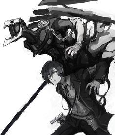 Minato and Thanatos by IXA @dxIX_xx