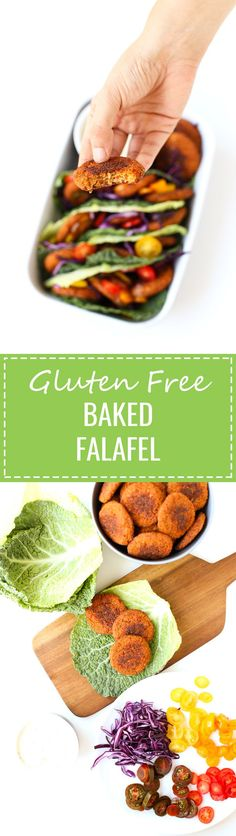 (Vegan and GF) I'm in love with this gluten-free baked falafel, it's so delicious! I usually serve it with raw veggies and homemade vegan yogurt sauce. Gf Recipes, Gluten Free Recipes, Whole Food Recipes, Vegetarian Recipes, Cooking Recipes, Healthy Recipes, Lunch Recipes, Dinner Recipes, Gluten Free Baking