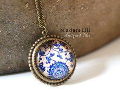 ♥ FLIESEN Bronze Kette von MadamLili® ♥ Lebensfreude zum Tragen! :) ♥ auf DaWanda.com