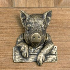 and this little piggy stayed home.... (door knocker)