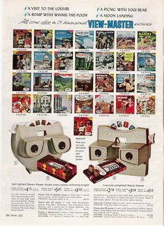 1965 Sears Christmas Catalog | Viewmaster from the Sears Christmas Wishbook, 1965.