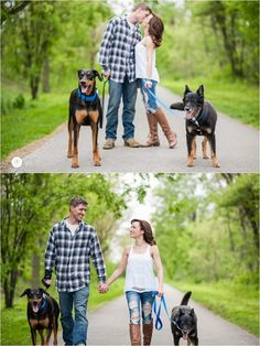 Engagement pictures with dogs! You have to include the fur babies!  #ChicagoEngagementPhotographer #puppylove #engagementphotos