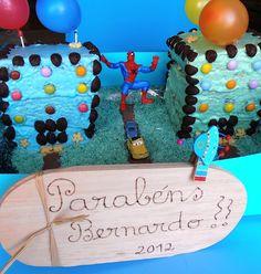 kids parties#Spider Man 3D cake#festas crianças#bolo 3D homem aranha