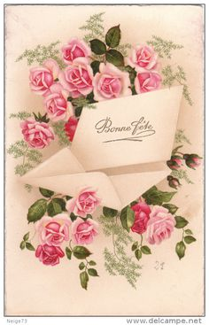 Millions of antique postcards are waiting for you! Small towns, traditional crafts, various topics… Find the postcards you were looking for! Vintage Greeting Cards, Vintage Postcards, Vintage Images, Vintage Roses, Paper Design, Painting & Drawing, Vintage Ladies, Flora, Garden Tips