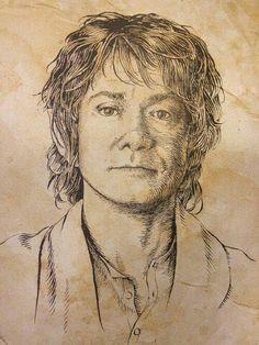 Bilbo Baggins as a young hobbit.