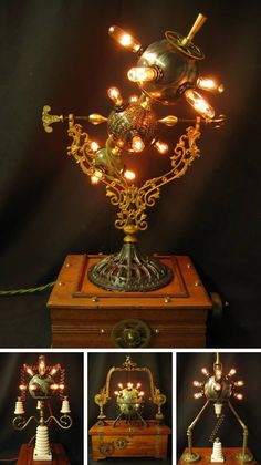 Steampunk Tendencies | Lamps by Steampunk Lighting #Lamps #Design #Industrial #Steampunk #Teslapun