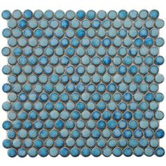 penny round tile at Home Depot