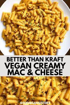 Vegan Mac And Cheese, Creamy Mac And Cheese, Mac Cheese, Dairy Free Mac And Cheese, Cheese Sauce, Vegan Dinner Recipes, Dairy Free Recipes, Vegetarian Recipes, Vegetarian Food