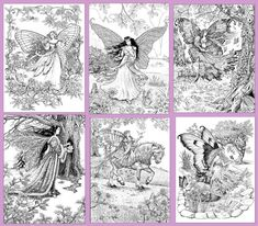 A World of Fairies PDF of 24 images by RuthSandersonArt on Etsy