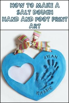 Capture Those Special Memories by Making Your Own Salt Dough Footprint Heart