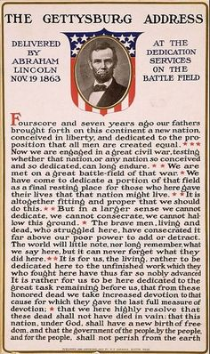 Today in history: On November 19, 1863, Abraham Lincoln delivered the Gettysburg Address.