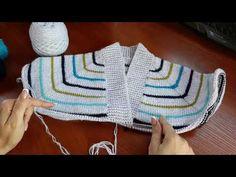 Пуловер с карманом (из остатков пряжи). Часть 1. Обзор. Расчеты. - YouTube Crochet Baby, Crochet Bikini, Sweater Design, Knitting Patterns, Applique, Boys, Swimwear, Sweaters, Youtube