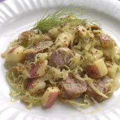 Turkey Sausage with Fennel Sauerkraut & Potatoes - EatingWell.com
